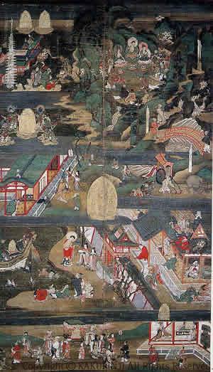 聖徳太子絵図 第1幅(全8幅)